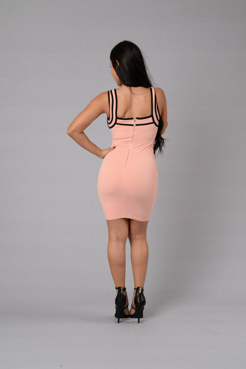 Amorous Dress - Blush/Black