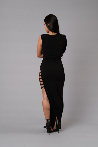 Girl on Fire Dress - Black