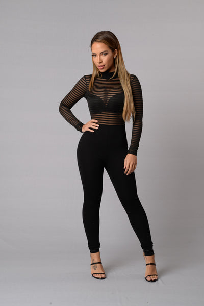 Long Shot Jumpsuit - Black