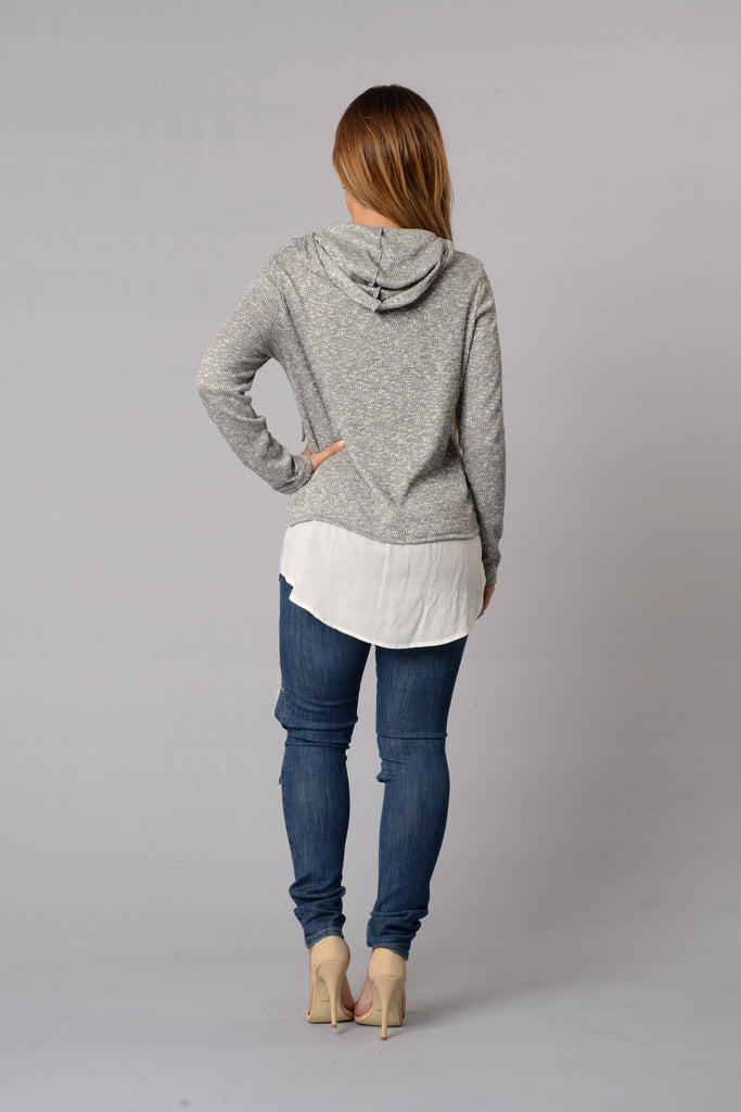 Hudson Hoodie - Heather Grey