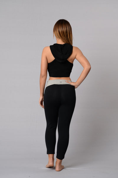 Let's Get Physical Crop Legging - Black/Grey