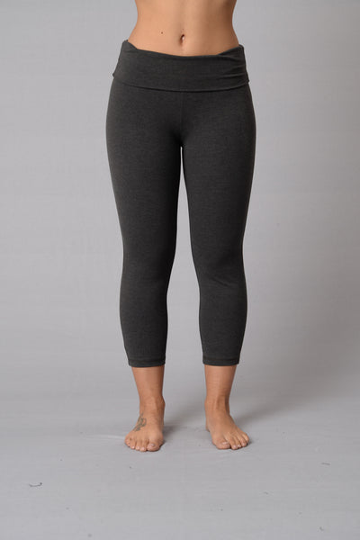 Let's Get Physical Crop Legging - Charcoal