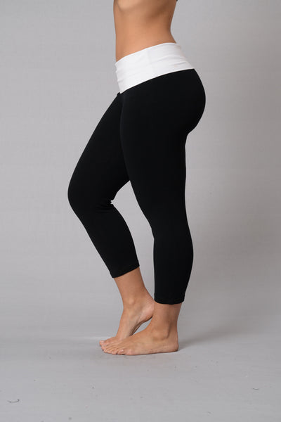 Let's Get Physical Crop Legging - Black/White