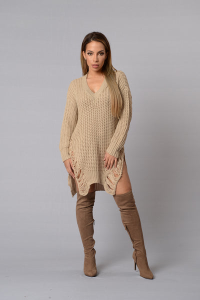 Unwind Sweater - Taupe