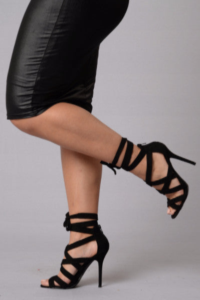 Wrapped Up Heel - Black