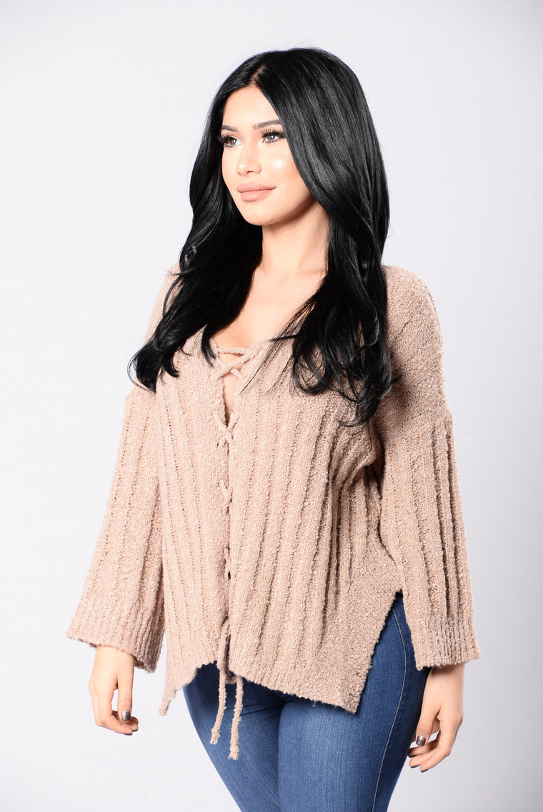 Have It All Sweater - Brown