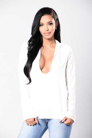 Out In The City Top - Ivory