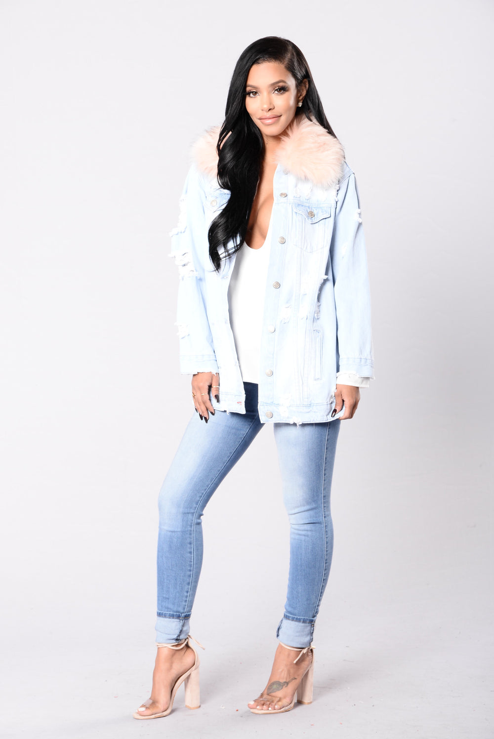Hear The Secrets You Keep Jacket - Light Denim