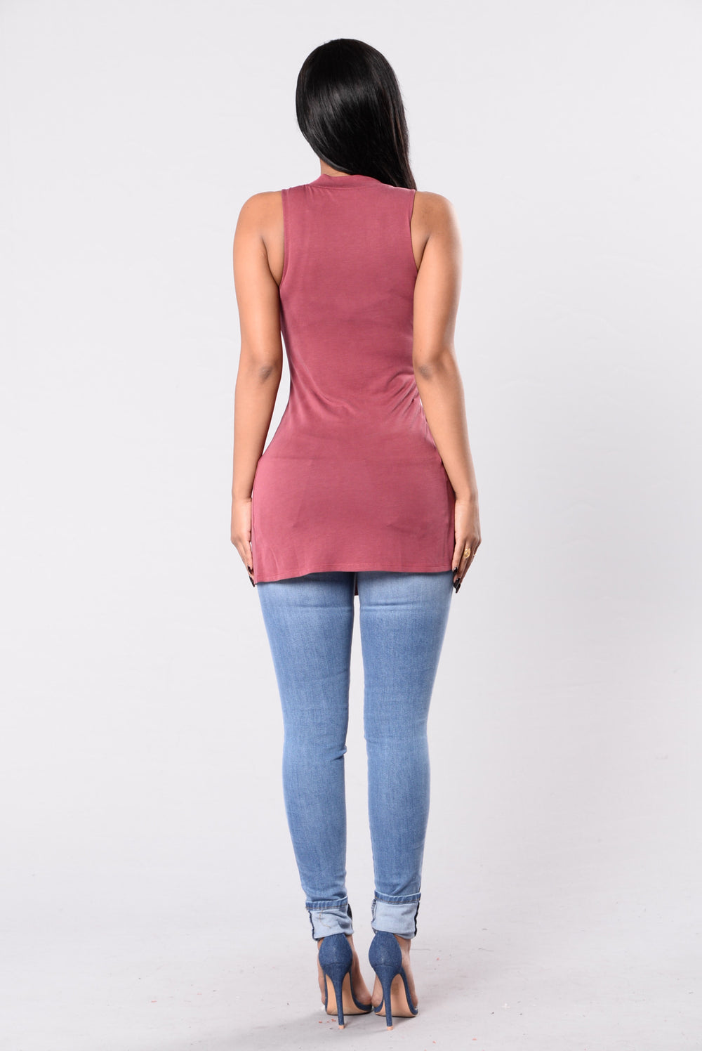 Temptations Top - Burgundy