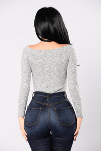 Off the Wall Bodysuit - Grey