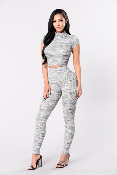 Jet Lag Leggings - Grey
