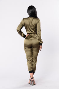 Fire & Ice Jumpsuit - Olive