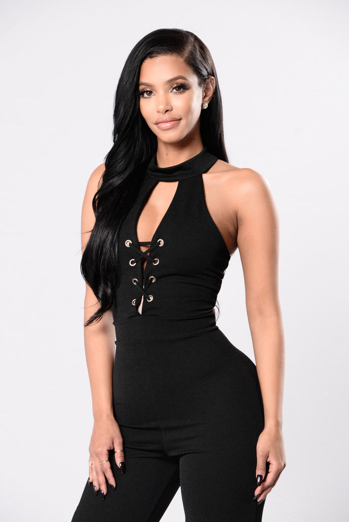 Toxic Love Jumpsuit - Black