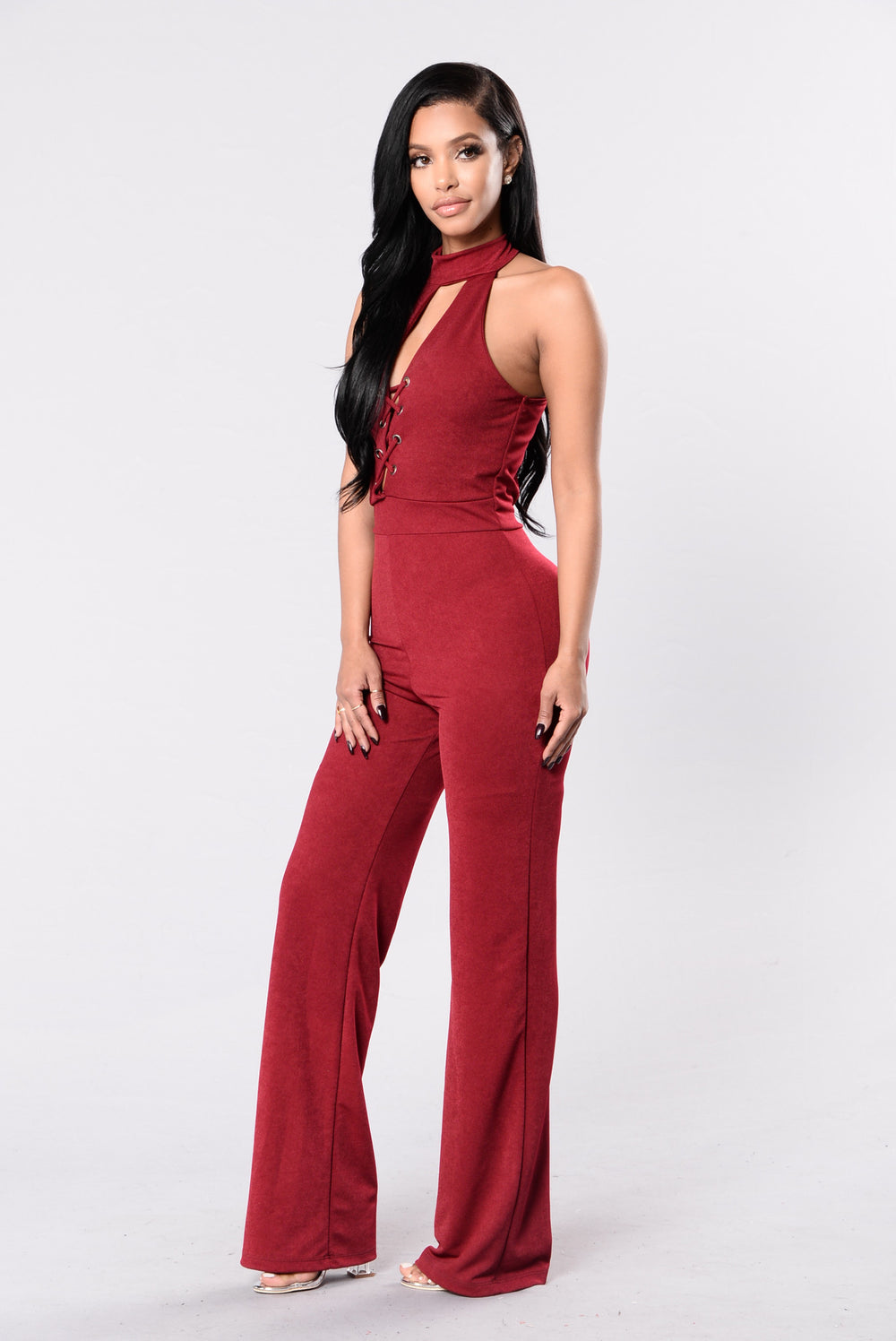 Toxic Love Jumpsuit - Burgundy