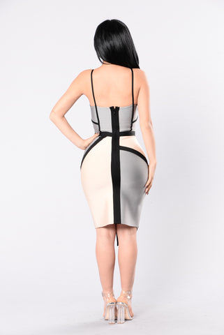 Shape Up For Me Bandage Dress - Grey