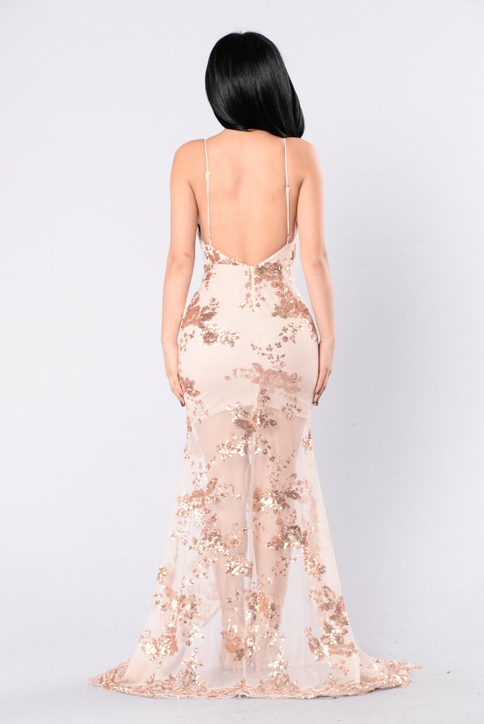Nice To Know Dress - Rose Gold