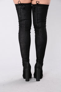 Pump It Up Boot - Dark Denim