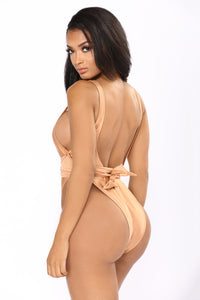 Tied Down Swimsuit - Nude