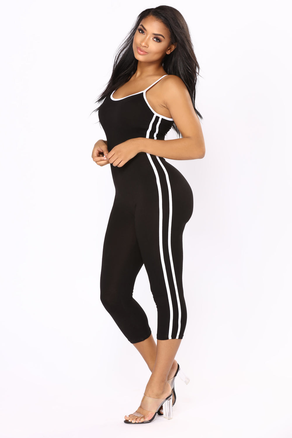 Hyped For The Weekend Jumpsuit - Black