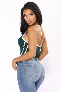 Talk All Day Bodysuit - Dark Green