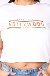 My Hollywood Crop Top - White