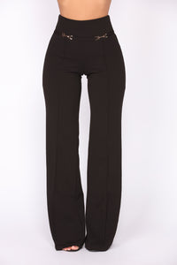 Blaire High Rise Pants - Black