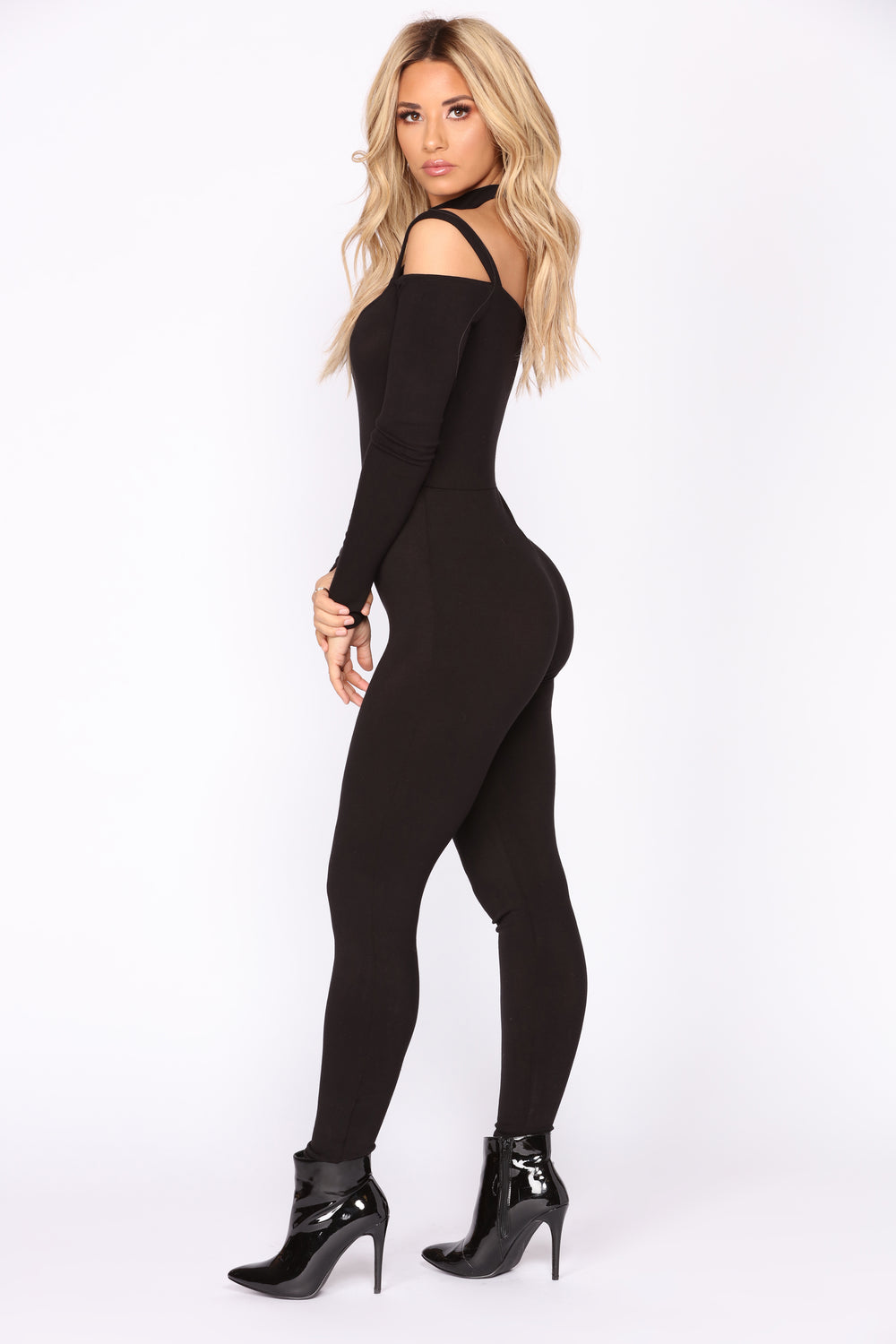 High Hopes Choker Jumpsuit - Black