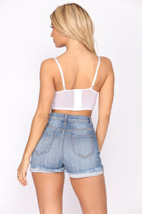 Quick Night Plans Lace Top - White