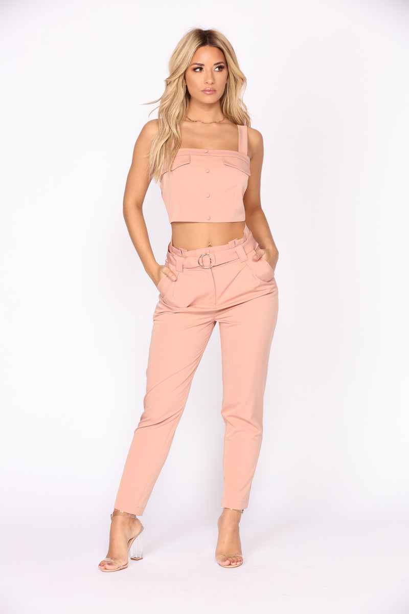 Fleek Chic Matching Set - Blush