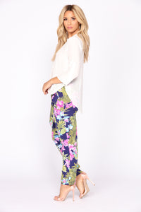Tropical Punch High Rise Pants - Floral Multi
