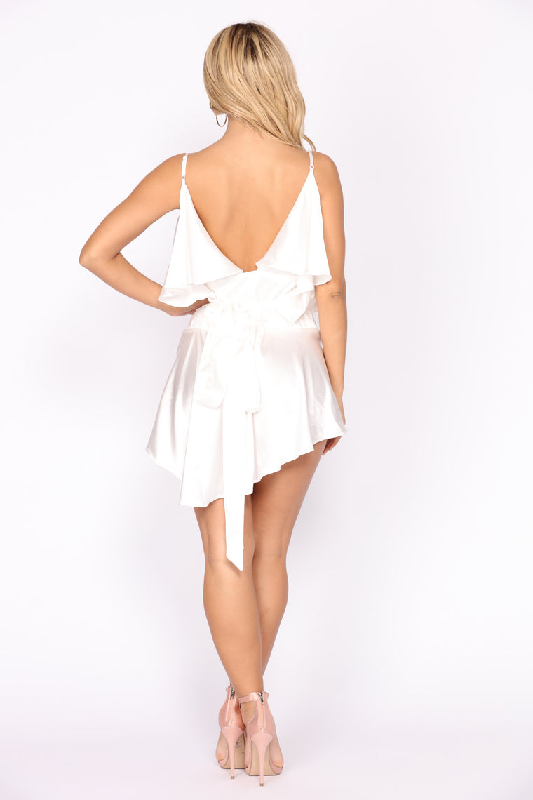Boss Gloss Mini Dress - White
