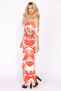 See The Sunrise Tropical Jumpsuit - Ivory/Red Angle 3