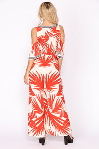 See The Sunrise Tropical Jumpsuit - Ivory/Red Angle 4
