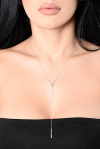 Valerie Dripping In Gold Necklace - White Gold