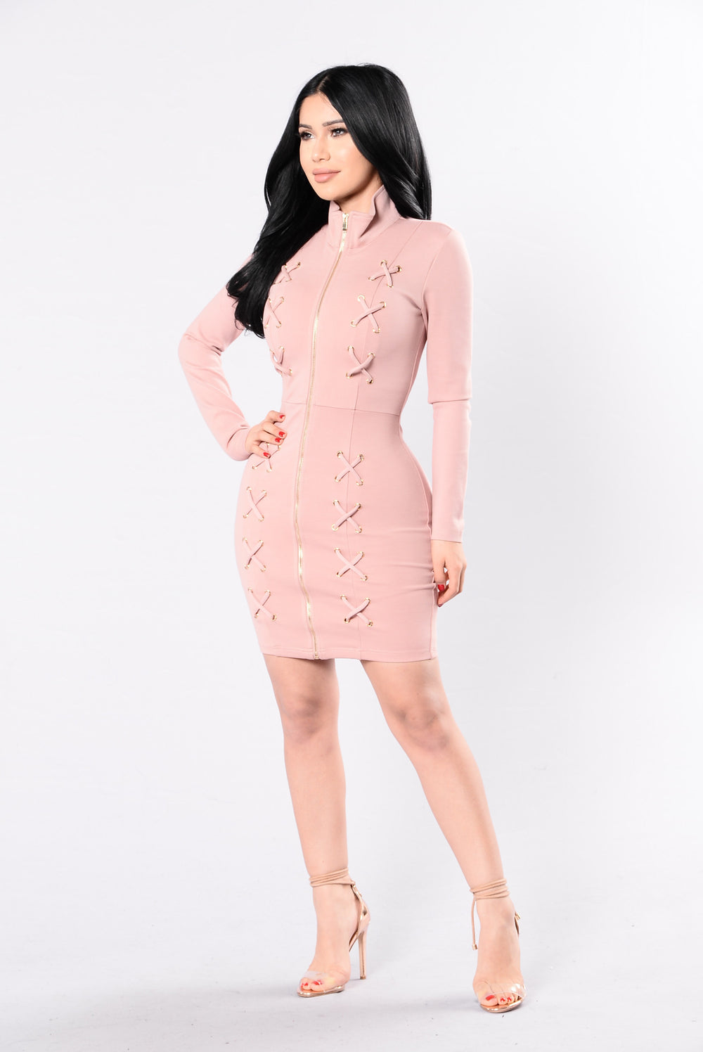 Kryptonite Dress - Mauve