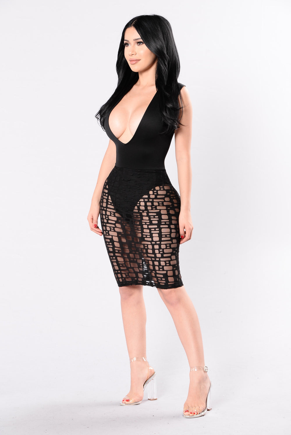 Sheer Genius Dress - Black