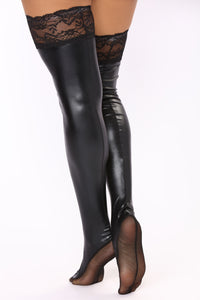 Never Dry Thigh High - Black