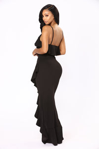 Inevitable Maxi Dress - Black