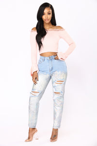 Naya Off The Shoulder Top - Blush