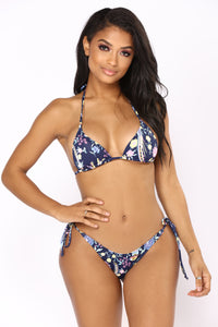 Go With The Flow Bikini - Navy