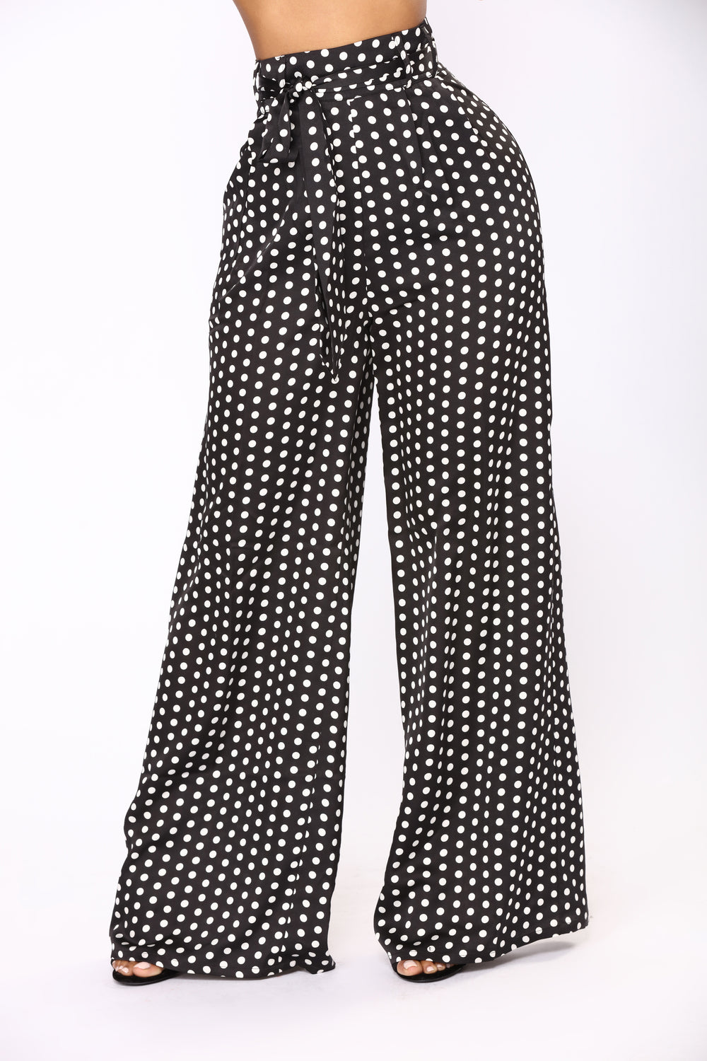 Hit The Spot Polka Dot Pants - Black/White