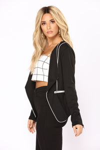 Lets Talk Blazer - Black/White