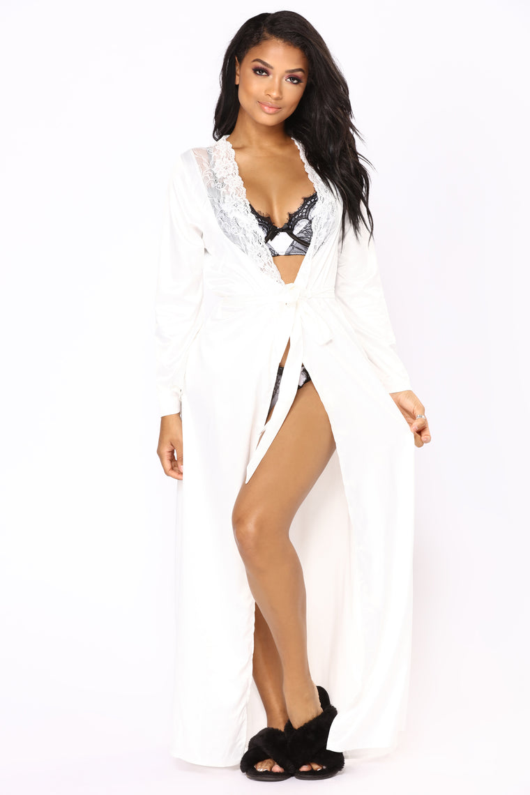 Always Lady Like Robe - White