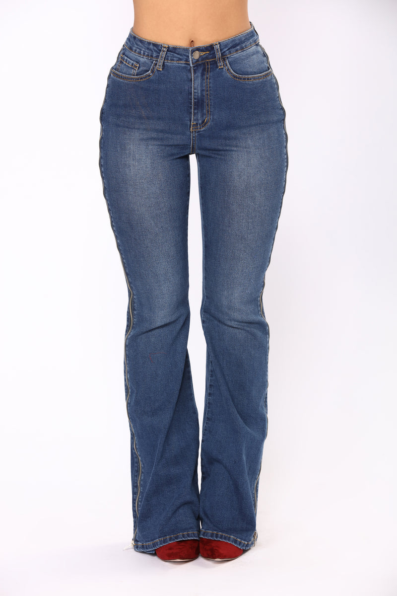 Bonita Bell Bottoms Jeans - Dark Denim