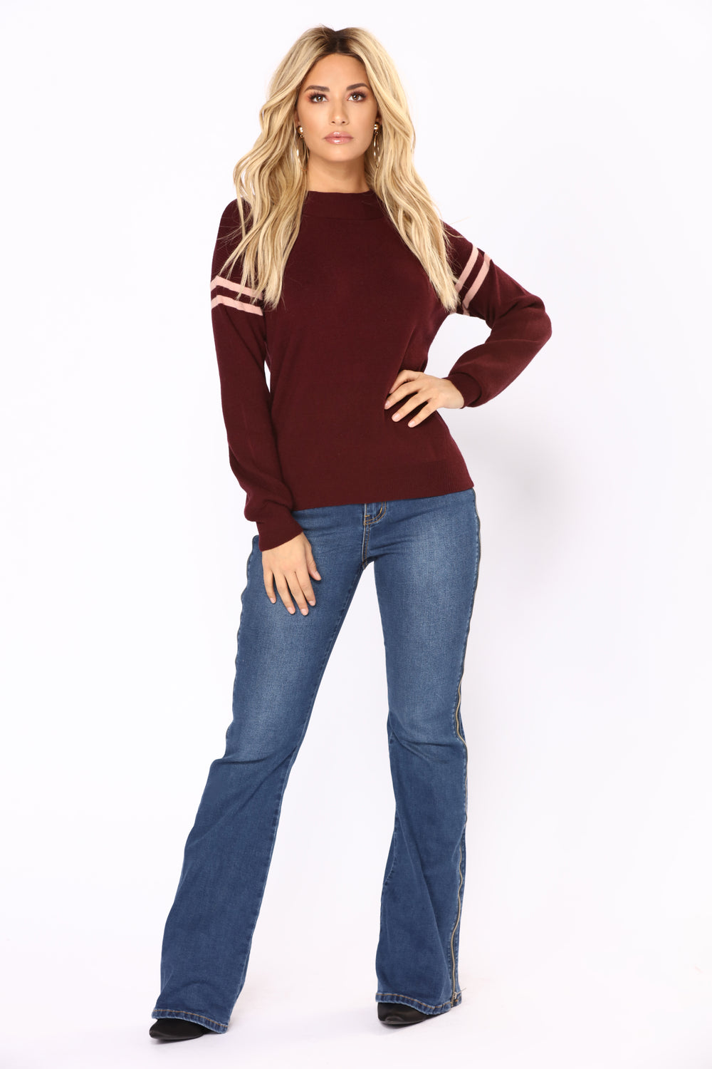 Lost In Nostalgia Sweater - Plum