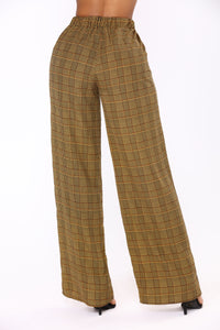 Checking Out Plaid Set - Mustard/Multi