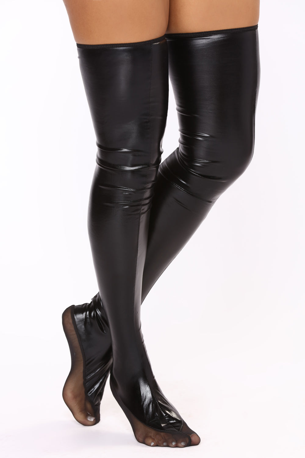 Not Out Of Water Thigh Highs - Black