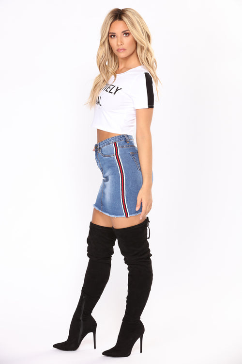 Win Me Over Denim Skirt - Denim