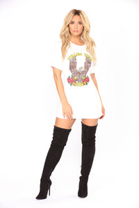 Follow Your Heart Graphic Tunic - Ivory