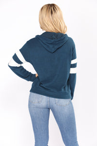 Never Mistaken Hooded Top - Teal